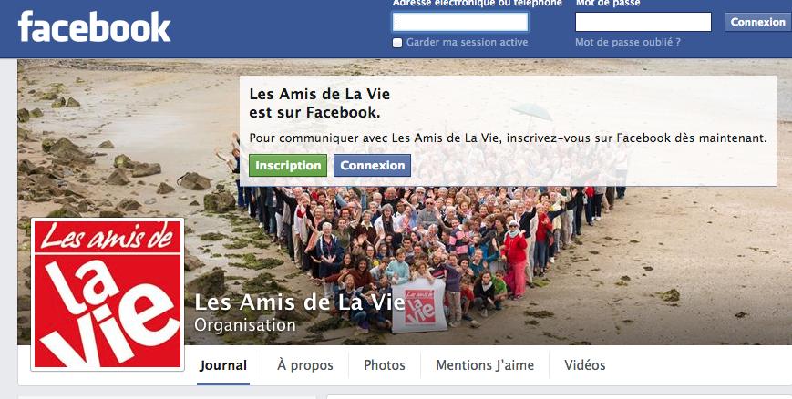 Les Amis sont sur Facebook