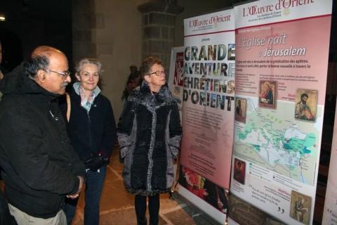 Parallèlement à la conférence, une exposition 'La grande aventure des chrétiens d'Orient', préparée par l'Œuvre d'Orient, était présente à Saint-Jean du Baly.