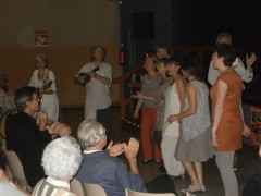 Avec les Azzimutés, groupe vocal du Vercors.