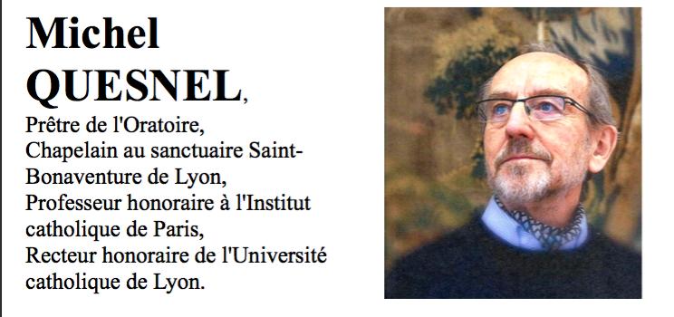 """Dijon """"la Grâce du pardon : point de vue d'un confesseur"""" par Michel Quesnel"""