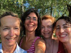 Les quatre guides du 2019 : Isabelle Richard, Laure le Douarec, Isabelle Rappart et Oumelghaït el Alj (de gauche à droite).