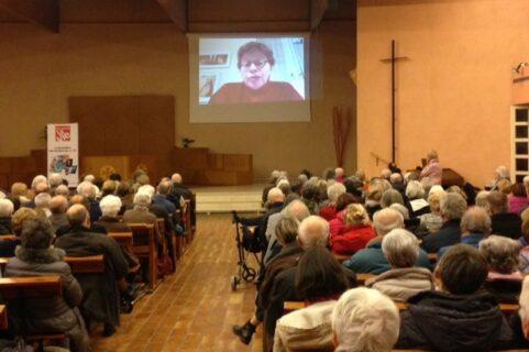 """Véronique Margron, présidente de la conférence des religieux et religieuses de France, auteur du livre """"Un moment de vérité"""" (Albin Michel)"""