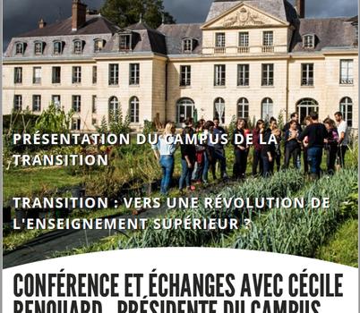 Annulé pour cause de Coronavirus : À Compiègne, Cécile Renouard présente le Campus de la Transition